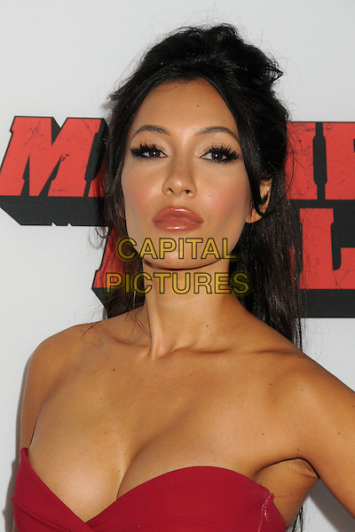 Kea Ho<br /> The L.A. Premiere of 'Machete Kills' held at The Regal Cinemas L.A. Live in Los Angeles, California, USA.<br /> October 2nd, 2012<br /> headshot portrait red strapless cleavage <br /> CAP/ADM/BP<br /> &copy;Byron Purvis/AdMedia/Capital Pictures