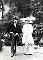 Undated - Japan - Emperor Showa (1901-1989) with Empress Kojun (1903-2000) also called Empress Showa. Emperor Showa personal name Hirohito also called Emperor Hirohito was the 124th emperor of Japan according to the traditional order, reigning from December 25, 1926, until his death in 1989. The Showa period was the longest reign of any historical Japanese Emperor, encompassing a period of tremendous change in Japanese society.  (Photo by Kingendai Photo Library/AFLO)