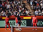 Davis Cup by BNP Paribas.<br /> World Group Quarterfinal.<br /> Spain vs Germany.<br /> Valencia (Spain).<br /> April 4, 2018.<br /> <br /> Feliciano L&oacute;pez Training.