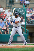 Columbus Clippers first baseman Jesus Aguilar (30) at bat during a game against the Rochester Red Wings on June 16, 2016 at Frontier Field in Rochester, New York.  Rochester defeated Columbus 6-2.  (Mike Janes/Four Seam Images)