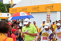 Lee Westwood (ENG) on the 18th during Round 3 of the Maybank Malaysian Open at the Kuala Lumpur Golf & Country Club on Saturday 7th February 2015.<br /> Picture:  Thos Caffrey / www.golffile.ie