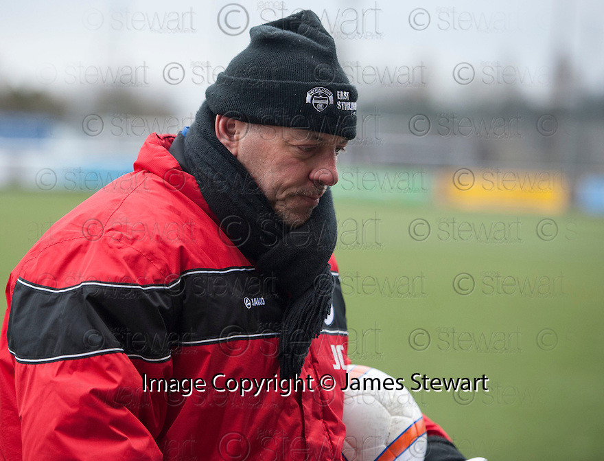 Shire manager John Coughlin at the end of the game.