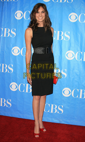 DANIELA RUAH ('NCIS: Los Angeles').CBS Television Network's 2009-2010 Primetime Programming Announcements After-Party, held at Terminal 5, New York, NY, USA..May 20th, 2009.full length sleeveless dress red clutch belt bag open toe shoes black.CAP/LNC.©TOM/LNC/Capital Pictures.
