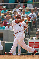 University of South Carolina Gamecocks 1st baseman Nick Ebert #47 at bat during the 2nd and deciding game of the NCAA Super Regional vs. the University of Coastal Carolina Chanticleers on June 13, 2010 at BB&T Coastal Field in Myrtle Beach, SC.  The Gamecocks defeated Coastal Carolina 10-9 to advance to the 2010 NCAA College World Series in Omaha, Nebraska. Photo By Robert Gurganus/Four Seam Images