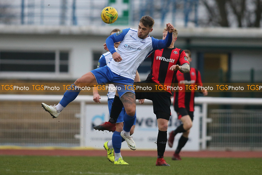 Dan Reumans of Enfield during Enfield Town vs Lewes, Bostik League Premier Division Football at the Queen Elizabeth II Stadium on 5th January 2019
