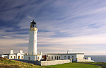 Mull of Galloway lighthouse under a interesting sky in the Rhins of Galloway Scotland UK