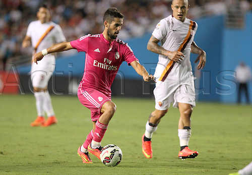 29.07.2014. Dallas, Texas, USA.  Real Madrid midfielder Isco (#23) during the International Champions Cup match between Real Madrid and AS Roma at the Cotton Bowl in Dallas, Texas.  AS Roma won the game 1-0.