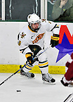 22 November 2011: University of Vermont Catamount forward Colin Markison, a Freshman from Princeton, NJ, in action against the University of Massachusetts Minutemen at Gutterson Fieldhouse in Burlington, Vermont. The Catamounts defeated the Minutemen 2-1 in their annual pre-Thanksgiving meeting of the Hockey East season. Mandatory Credit: Ed Wolfstein Photo