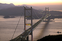 Qingma Bridge in Hong Kong, reported as the largest automobile and rail bridge in the world.