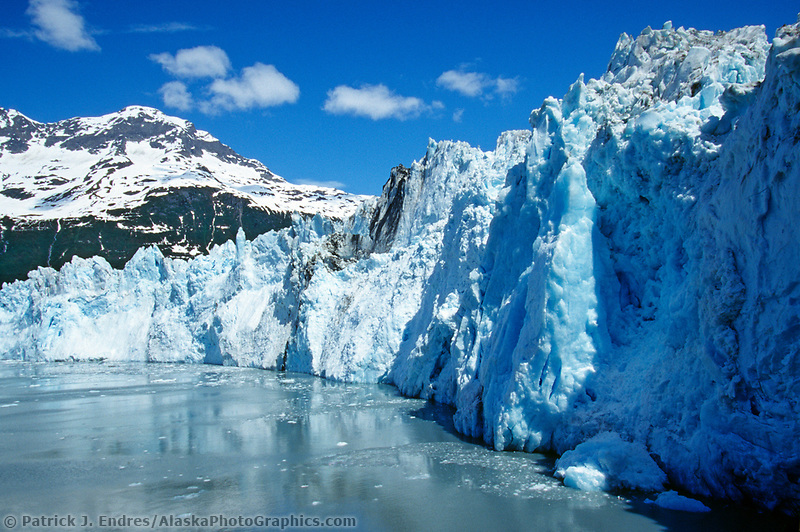 Meares tidewater glacier, Meares inlet, Prince William Sound, Alaska.