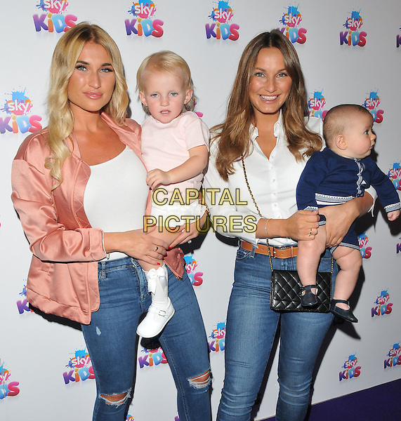 Billie Faiers, Nelly Samantha Shepherd, Sam Faiers &amp; baby Paul at the Sky Kids Cafe VIP launch party, The Vinyl Factory, Marshall Street, London, England, UK, on Sunday 29 May 2016.<br /> CAP/CAN<br /> &copy;CAN/Capital Pictures
