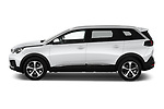 Car Driver side profile view of a 2019 Peugeot 5008 Allure 5 Door SUV Side View