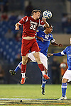 07 December 2012: Indiana's Dylan Lax (30) and Creighton's Jose Gomez (10). The Creighton University Bluejays played the Indiana University Hoosiers at Regions Park Stadium in Hoover, Alabama in a 2012 NCAA Division I Men's Soccer College Cup semifinal game. Indiana won the game 1-0.