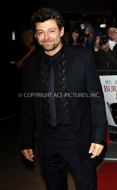 WWW.ACEPIXS.COM . . . . .  ..... . . . . US SALES ONLY . . . . .....October 25 2010, London....Andy Serkis at the premiere of 'Burke and Hare' at The Chelsea Cinema on October 25 2010 in London....Please byline: FAMOUS-ACE PICTURES... . . . .  ....Ace Pictures, Inc:  ..Tel: (212) 243-8787..e-mail: info@acepixs.com..web: http://www.acepixs.com