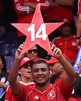 CALI-COLOMBIA , 07-12-2019.Hinchas del América  de Cali campeon de Colombia   al vencer al Atlético Junior durante partido por la final de la Liga Águila II 2019 jugado en el estadans of America de Caliio Pascual Guerrero de la ciudad de Cali./ Fans of Amerca de Cali.Action game between teams America de Cali   and Atletico Junior during the final match for the Aguila League II 2019 played at Pascual Guerrero stadium in Cali city. Photo: VizzorImage/ Felipe Caicedo / Staff
