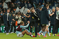 A dejected Jack Grealish of Aston Villa at the end of the game here with Aston Villa's Head Coach Dean Smith.  Aston Villa vs Manchester City, Caraboa Cup Final Football at Wembley Stadium on 1st March 2020