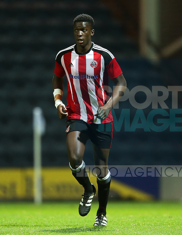 Joseph Cummings of Sheffield United during the FA Youth Cup 3rd Round match at Deepdale Stadium, Preston. Picture date: November 30th, 2016. Pic Matt McNulty/Sportimage