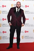 Tom Davis in the winners room for the BAFTA TV Awards 2018 at the Royal Festival Hall, London, UK. <br /> 13 May  2018<br /> Picture: Steve Vas/Featureflash/SilverHub 0208 004 5359 sales@silverhubmedia.com