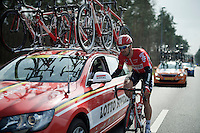 Greg Henderson (NZL/Lotto-Soudal) at the team car<br /> <br /> 103rd Scheldeprijs 2015