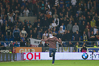 A pitch invader during the Sky Bet Championship match between Cardiff City and Leeds United at the Cardiff City Stadium, Cardiff, Wales on 26 September 2017. Photo by Mark  Hawkins / PRiME Media Images.