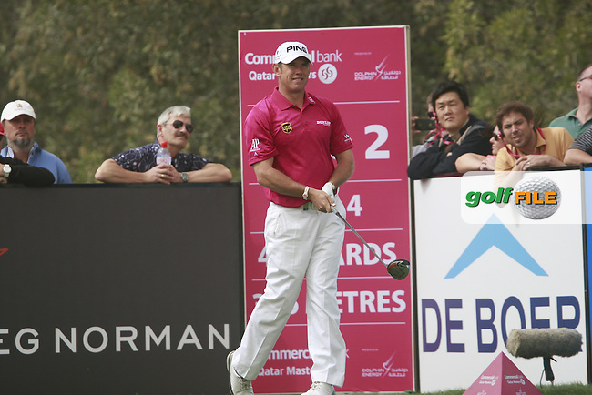 Lee Westwood (ENG) tees off on the 2nd tee during Thursday's Round 1 of the 2012 Commercialbank Qatar Masters presented by Dolphin Energy at Doha Golf Club, Qatar, 2nd February 2012 (Photo Eoin Clarke/www.golffile.ie)