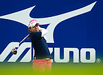 Mika Miyazato of Japan tees off on the 14th hole during day one of the Sunrise LPGA Taiwan Championship 2011 at the Sunrise Golf & Country Club on 20 October 2011 in Tao Yuan, Taiwan. Photo by Victor Fraile / The Power of Sport Images