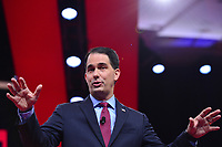National Harbor, MD - February 28, 2019: Former Wisconsin Governor Scott Walker speaks at the annual Conservative Political Action Conference (CPAC) held at the Gaylord National Resort at National Harbor, MD February 28, 2019.  (Photo by Don Baxter/Media Images International)