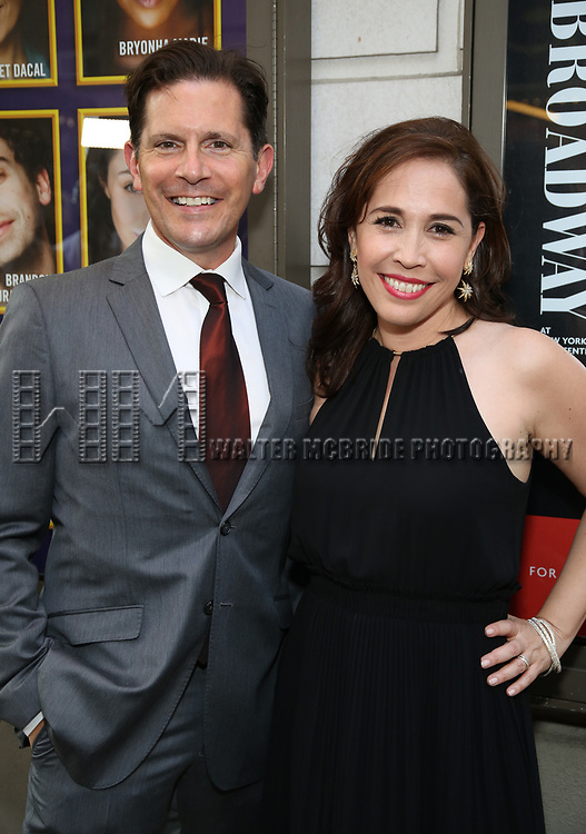 Peter Flynn and Andrea Burns attends the Broadway Opening Night performance of 'The Prince of Broadway' at the Samuel J. Friedman Theatre on August 24, 2017 in New York City.