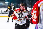 Stockholm 2014-01-08 Ishockey SHL AIK - Lule&aring; HF :  <br />  Lule&aring;s Linus Persson har skadat sig i f&ouml;rsta perioden<br /> (Foto: Kenta J&ouml;nsson) Nyckelord:  skada skadan ont sm&auml;rta injury pain