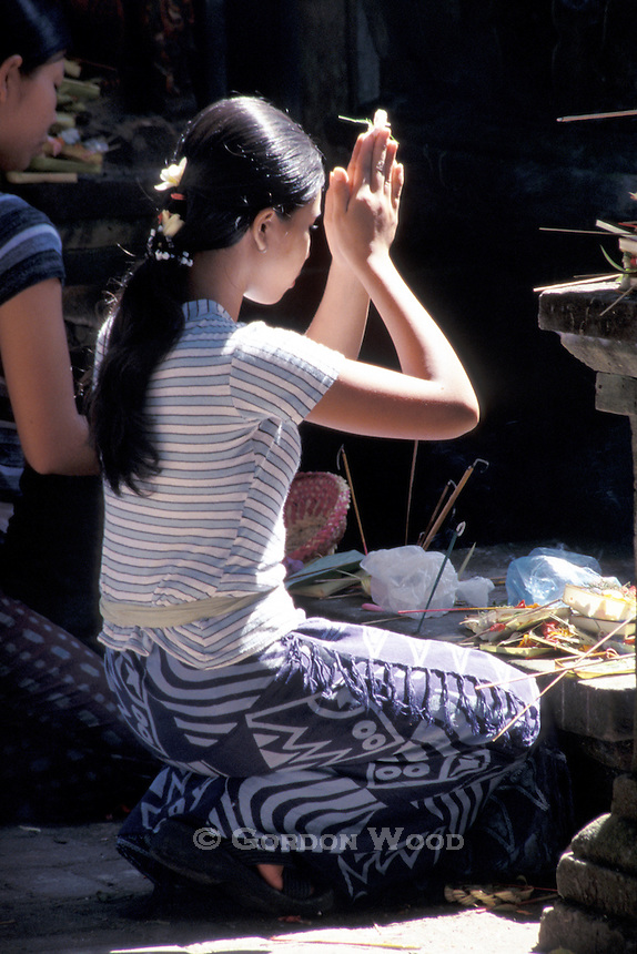Balinese Girls in Prayer