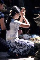 Balinese Girls in Prayer