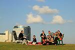 Israel, Tel Aviv-Yafo, a Muslim family celebrating Eid al Adha holiday in Tel Aviv