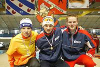 SCHAATSEN: HEERENVEEN: IJsstadion Thialf, 13-03-2004, VikingRace, Pim Schipper, Jesper Hospes, ©foto Martin de Jong