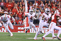 The Ohio State University football team defeats the Wisconsin Badgers in overtime 30-23. October 15,2016<br />