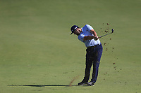 Jon Rahm (ESP) on the 1st fairway during the 3rd round of the DP World Tour Championship, Jumeirah Golf Estates, Dubai, United Arab Emirates. 23/11/2019<br /> Picture: Golffile | Fran Caffrey<br /> <br /> <br /> All photo usage must carry mandatory copyright credit (© Golffile | Fran Caffrey)