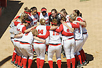 MADISON, WI - APRIL 16: The Wisconsin Badgers softball team huddles during the game against the Indiana Hoosiers at Goodman Diamond on April 16, 2007 in Madison, Wisconsin. (Photo by David Stluka)