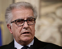 Democratic Party' s representatives Luigi Zanda attends a press point following a meeting with Italy's President Sergio Mattarella at the Quirinale Palace, on December 10, 2016.<br /> UPDATE IMAGES PRESS/IsabellaBonotto