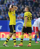 FUSSBALL   1. BUNDESLIGA   SAISON 2012/2013   5. Spieltag Hamburger SV - Borussia Dortmund               22.09.2012         Ivan Perisic (li) und Lukasz Piszczek (re, beide Borussia Dortmund) sind enttaeuscht