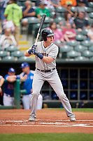 Colorado Springs Sky Sox first baseman Garrett Cooper (30) at bat during a game against the Oklahoma City Dodgers on June 2, 2017 at Chickasaw Bricktown Ballpark in Oklahoma City, Oklahoma.  Colorado Springs defeated Oklahoma City 1-0 in ten innings.  (Mike Janes/Four Seam Images)