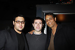 "Gregori J. Martin, Kristos Andrews and Another World's Bronson Picket ""Diego Santana"" and As The World Turns' Scott Guthrie"" (all in the film) at The private Industry Screening of ""The Southside"", A Lany Film Tribute to Robert Areizaga, Jr. on February 27, 2012 at Tribeca Cinemas, New York City, New York.  (Photo by Sue Coflin/Max Photos)"