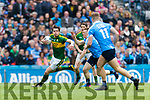 David Moran Kerry in action against  Dublin at the National League Final in Croke Park on Sunday.