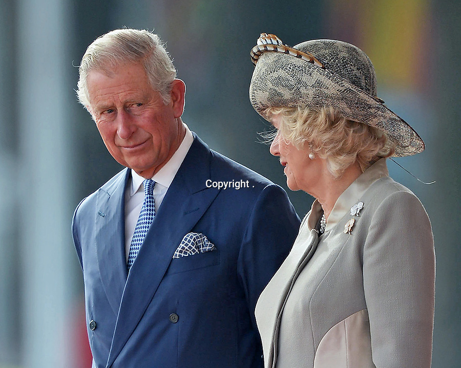 20.10.2015; London, England: QUEEN ELIZABETH GIVES PRESIDENT XI JINPING ROYAL WELCOME<br /> Prince Charles and Camilla,Duchess of Cornwall at the ceremonial welcome for the President of The People&rsquo;s Republic of China Xi Jinping and Madame Peng Liyuan.<br /> Mandatory Credit Photo: &copy;MoD/NEWSPIX INTERNATIONAL<br /> <br /> IMMEDIATE CONFIRMATION OF USAGE REQUIRED:<br /> Newspix International, 31 Chinnery Hill, Bishop's Stortford, ENGLAND CM23 3PS<br /> Tel:+441279 324672  ; Fax: +441279656877<br /> Mobile:  07775681153<br /> e-mail: info@newspixinternational.co.uk<br /> *All fees payable to Newspix International*