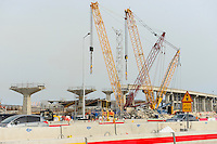 QATAR, Doha, construction boom for FIFA football world cup 2022 , the construction is done by migrant workers from all over the world, construction of new city railway line / KATAR, Doha, Bauboom fuer die FIFA Fußball WM 2022/ KATAR, Doha, Bauboom fuer die FIFA Fußball WM 2022, auf den Baustellen schuften Gastarbeiter aus aller Welt, Bau einer neuen S-Bahn