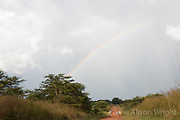 N. Uganda, Gulu District. Gwendiya village. Double rainbow.