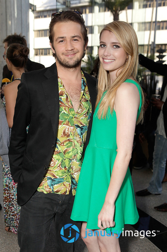 """BEVERLY HILLS, CA - JUNE 06:  Michael Angarano and Emma Roberts attend a Fox Searchlight screening Of """"The Art Of Getting By"""" at Clarity Theater on June 6, 2011 in Beverly Hills, California.  (Photo by Todd Williamson/WireImage)"""