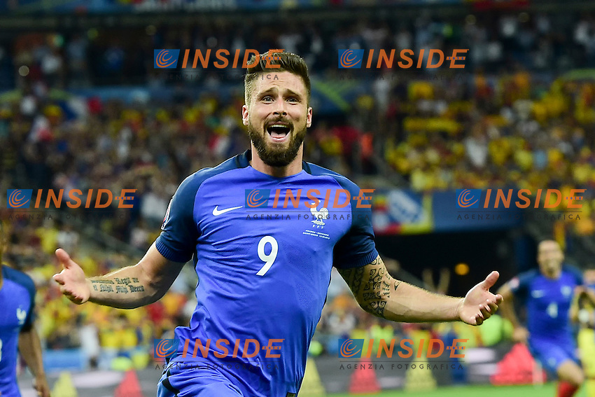 Esultanza Gol Olivier Giroud Francia Goal celebration <br /> Paris 10-06-2016 Stade de France football Euro2016 France - Romania  / Francia - Romania Group Stage Group A. Foto JB Autissier / Panoramic / Insidefoto