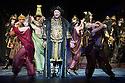 London, UK. 01.04.2014. The Kolobov Novaya Opera presents PRINCE IGOR at the London Coliseum. Picture shows: Act II - Polovtsian Camp, with Konchak (Vladimir Kudashev - centre). Photograph © Jane Hobson.