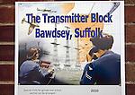 Advertising poster The Transmitter Block, Bawdsey, Suffolk