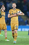 Tottenham's Harry Kane celebrates at the final whistle during the Premier League match at the King Power Stadium, Leicester. Picture date: May 18th, 2017. Pic credit should read: David Klein/Sportimage