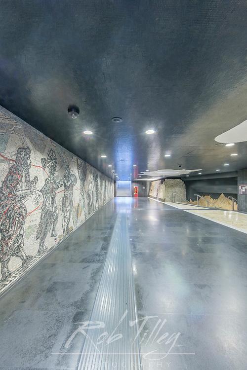 Europe, Italy, Naples, Toledo Metro Station